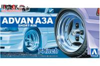 "1:24 Advan A3A Short Rim 14"" Wheels and Tyres"