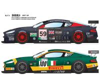 1:24 Aston Martin DBR9 2007 LM Team Modena #59 BMS Scuderia Italia #100 Multi-Media Model Kit