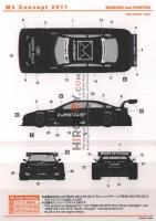1:24 BMW M3 DTM M3 Concept 2011 Decals (Revell)