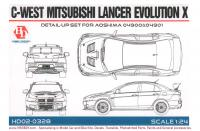 1:24 C-West Mitsubishi Lancer Evolution X  Detail up Set (Aoshima)