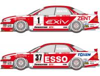 1:24 Toyota Tom's EXIV and Esso JTCC Decals (for Tamiya kit #24155)