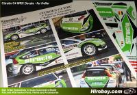 1:24 Citroen C4 WRC P.Tsjoen STRUCTO Rally de Wallonie 2011 Decals (Heller)