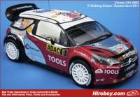 1:24 Citroen DS3 WRC P.Solberg ADAC - Deutschland Rally 2011 Decals (Heller)