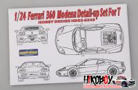 1:24 Ferrari 360 Modena Detail-up Set For Tamiya (PE+Resin)