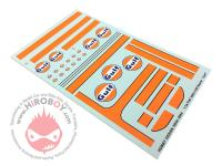 "1:24 Fiat 500/1300 and VW Beetle ""Gulf"" Logo Decals"