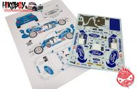"1:24 Ford Escort RS Cosworth WRC ""Usine"" RAC Rally 1998 Decals"