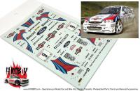 "1:24 Ford Escort RS ""Martini"" San Remo Rally 1997 Decals"