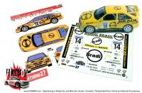"1:24 Ford Escort RS ""Bradi"" Swedish Rally 1996 Decals"