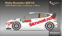 1:24 Ford Fiesta WRC Solberg - Rally Sweden 2014 Decals
