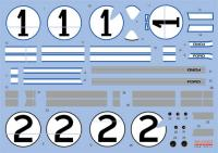 1:24 Ford GT40 1966 Le Mans #1 and #2 Decals for Fujimi