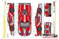 1:24 Ford GT #66 #67 24 Hours Le Mans 2019 (Team UK) Decals