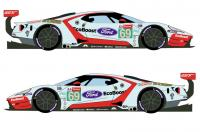 1:24 Ford GT #69 24 Hours Le Mans 2019 Decals