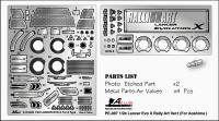 "1:24 Lancer Evo X ""RALLIART"" PE Parts + 4 Air Valve (Aoshima)"