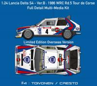 1:24 Lancia Delta S4 - Ver.B : 1986 WRC Rd.5 Tour de Corse - Full Detail Multi-Media Kit