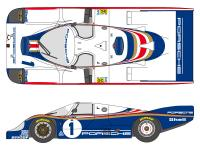 1:24 Porsche 956 LM Works Team 1982 Decals (for Tamiya kits)