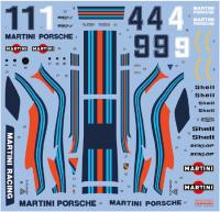1:24 Martini Porsche 935 Turbo 1976 Early Decals for Tamiya