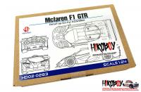1:24 McLaren F1 GTR Long Tail  Photoetch Detail-Up Set for Aoshima