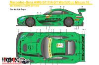 1:24 Mercedes-AMG GT3 FIA World Cup Macau 2016 Decals (Tamiya)