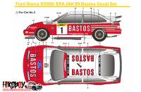 1:24 Ford Sierra RS500 Spa 24H 1989 Bastos Decals (Tamiya)