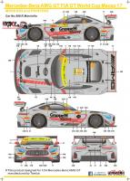 1:24 Mercedes-Benz AMG GT FIA GT World Cup Macau 2017 Decals