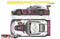 1:24 Mercedes-AMG GT3 Hello Kitty #70 Decals