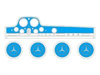 1:24 Mercedes-Benz 300SL Gullwing Coupe Dashboard Decals