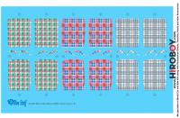 1:24 Mercedes-Benz 300SL Gullwing Coupe Plaid Seat Decals B