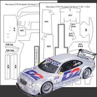 1:24 Mercedes-Benz CLK DTM Composite Fiber Decal Template Set #7130