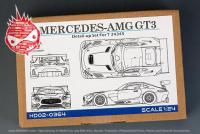 1:24 Mercedes AMG GT3 Detail-up Set For Tamiya 24345(PE+Metal parts+Resin)(HD02-0364)