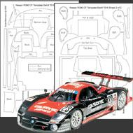 1:24 Nissan R390 GT1 Composite Fiber Decal Template Set