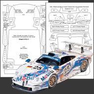 1 24 porsche 911 gt1 carbon fiber template set 7112 sku7112 scale motorsport. Black Bedroom Furniture Sets. Home Design Ideas