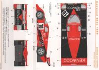 1:24 Porsche 962C 1989 Kenwood Decals (Tamiya)