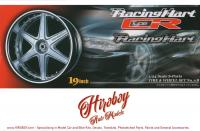 "1:24 Racing Hart Type CR 19"" Wheels and Tyres (Silver)"