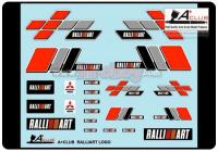 1:24 Ralliart Logo Decals