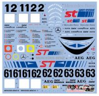 1:24 Sauber-Mercedes C9 1989-1990 Decals for Tamiya