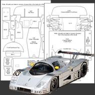 1:24 Sauber-Mercedes C9 Composite Fiber Decal Template Set #7113