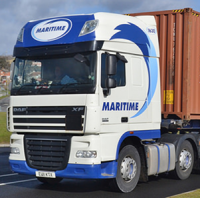 1:24 Maritime DAF XF105 with Curtain Sider Trailer