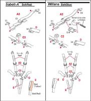 1:24 Seatbelt/Harness Set x 2 - RED - P1034