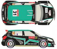 1:24 Skoda Fabia S2000 #31 Rally Portugal 2012 Decals for Belkits