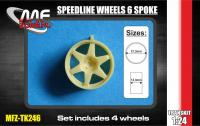 1:24 Speedline Wheels 6 spoke 5 Stud