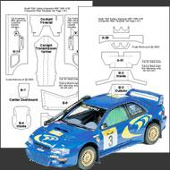 1:24 Subaru WRC '98 & '99 Carbon Fiber Template Set #7026