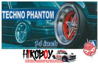 "1:24 Techno Phantom 14"" Wheels and Stretchwall Tyres"