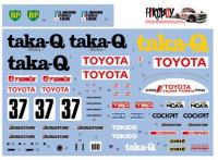 1:24 Toyota 88C-V Taka-Q Fuji 1000km Decals for Tamiya