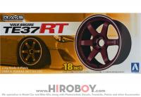 "1:24 Volk Racing TE37 RT 18"" Wheel and Tyre Set"