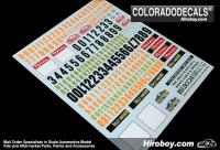 1:24 WRC Rally Plates 2012 Monte Carlo / Sweden Decals