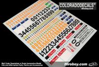 1:24 WRC Rally Plates 2012 - Mexico & Portugal Decals