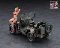 1:24 Willys Jeep - 1944 WWII U.S. 1/4 ton 4x4 Utility Truck With Blonde Girl Figure