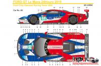 1:24 Ford GT #69 #68 24 Hours Le Mans 2019 (Team USA) Decals