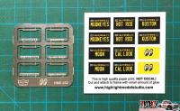 1:24 MOONEYES Licence Plate Frames (Photoetched)