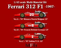1:43 Ferrari 312F1-67 ver. A Multi-Media Model Kit